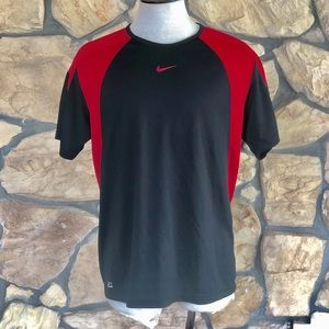 {Nike} Black and Red Performance T-shirt